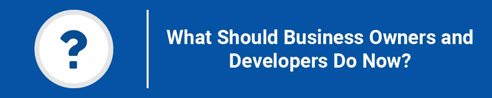 What Should Business Owners and Developers Do Now?