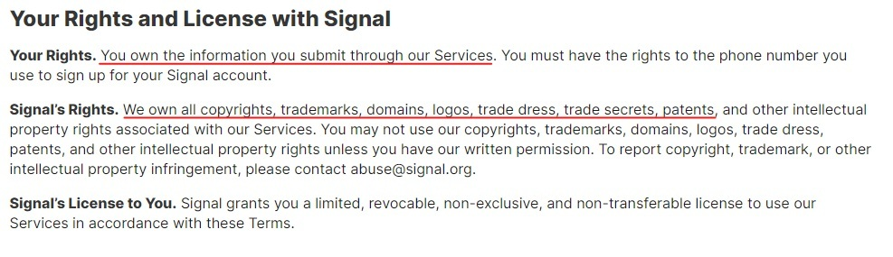 Signal Terms and Privacy Policy: Your Rights and License with Signal